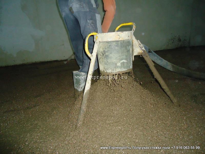 проливка керамзита цементным молочком технология