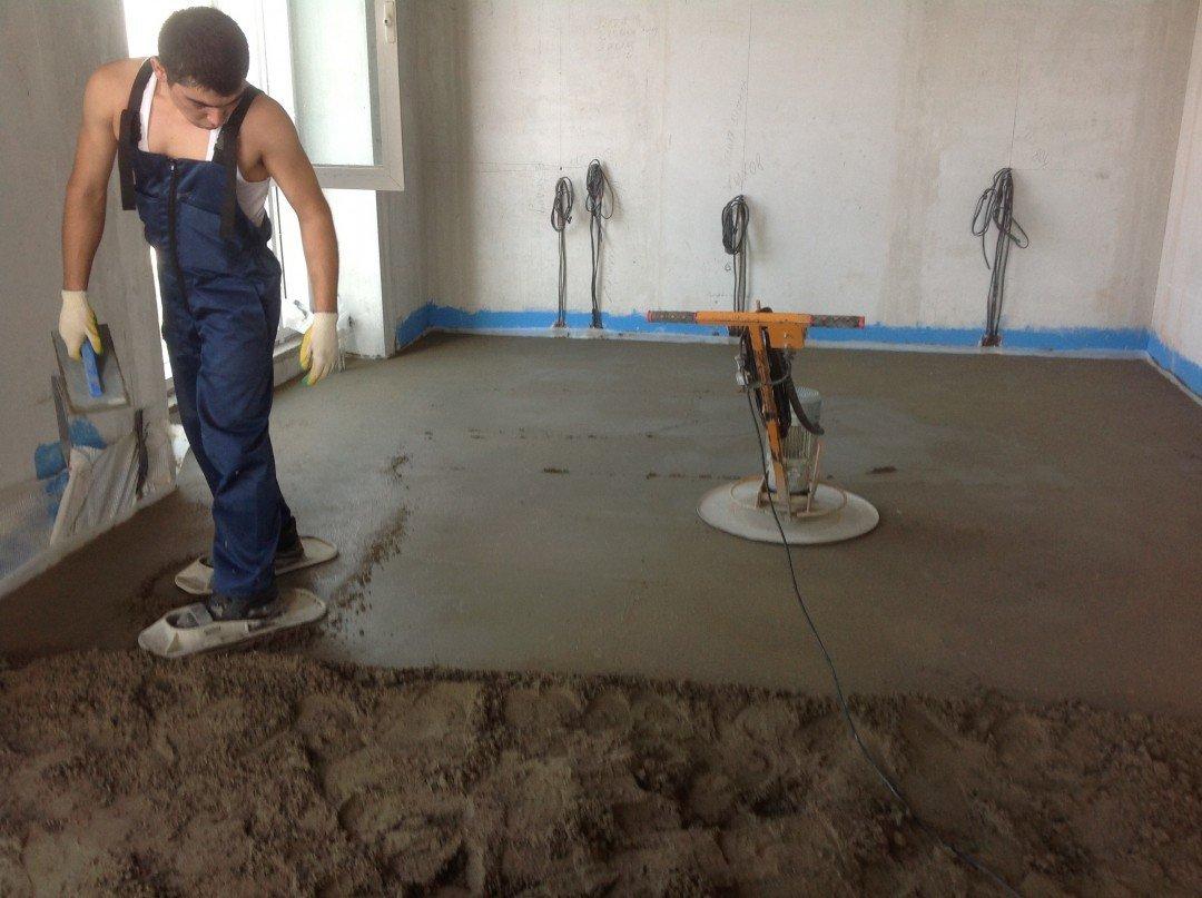 Как самому сделать бетонный пол в одно 215