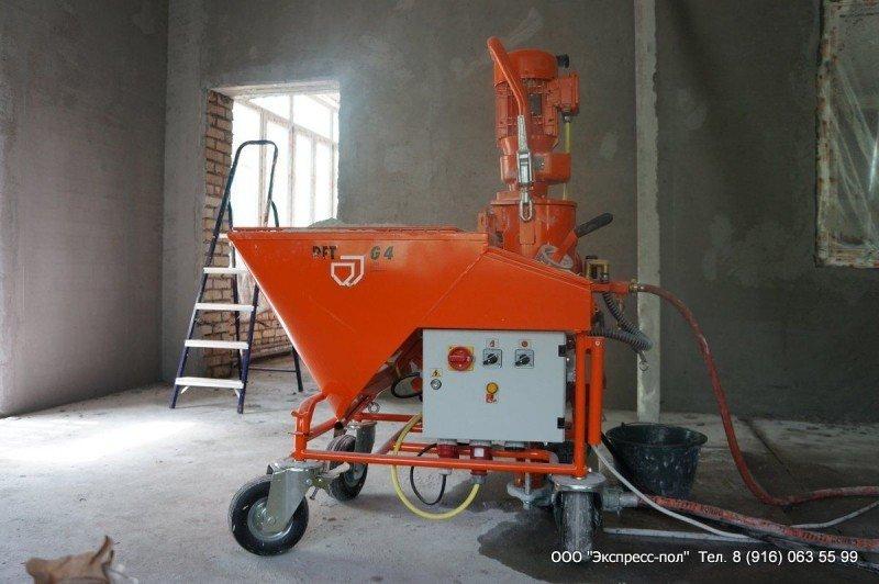 механизированная штукатурка на объекте детского садика в Лобне