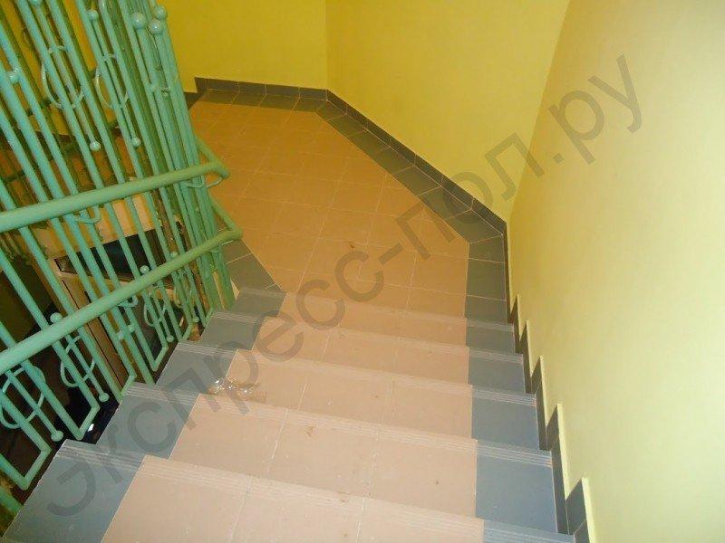 Лестница из керамогранита