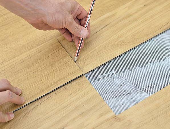 Линолеум под плитку, модульные элементы линолеума. Укладка на клей.