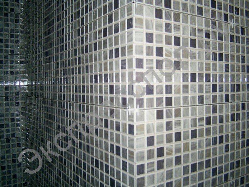 Внешний угол, укладка плитки в ванной