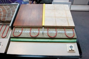 Пример монтажа нагревательного кабеля