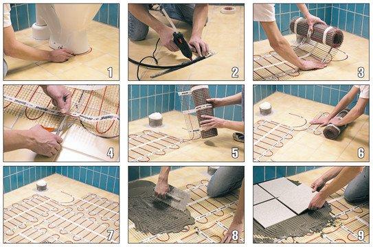 электрические маты под плитку