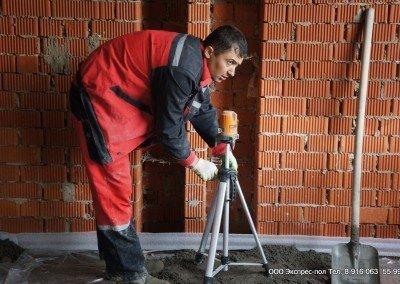 Стяжка бетонного пола при строительстве детского сада г. Лобня