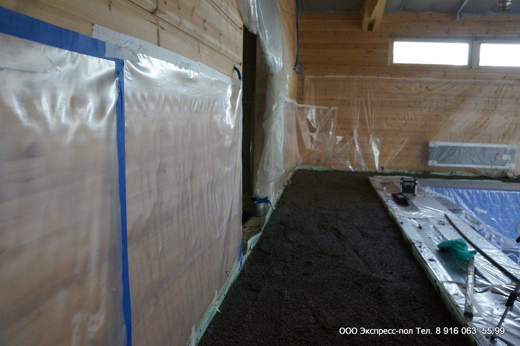 Полистиролбетон, легкое основание для деревянных перекрытий