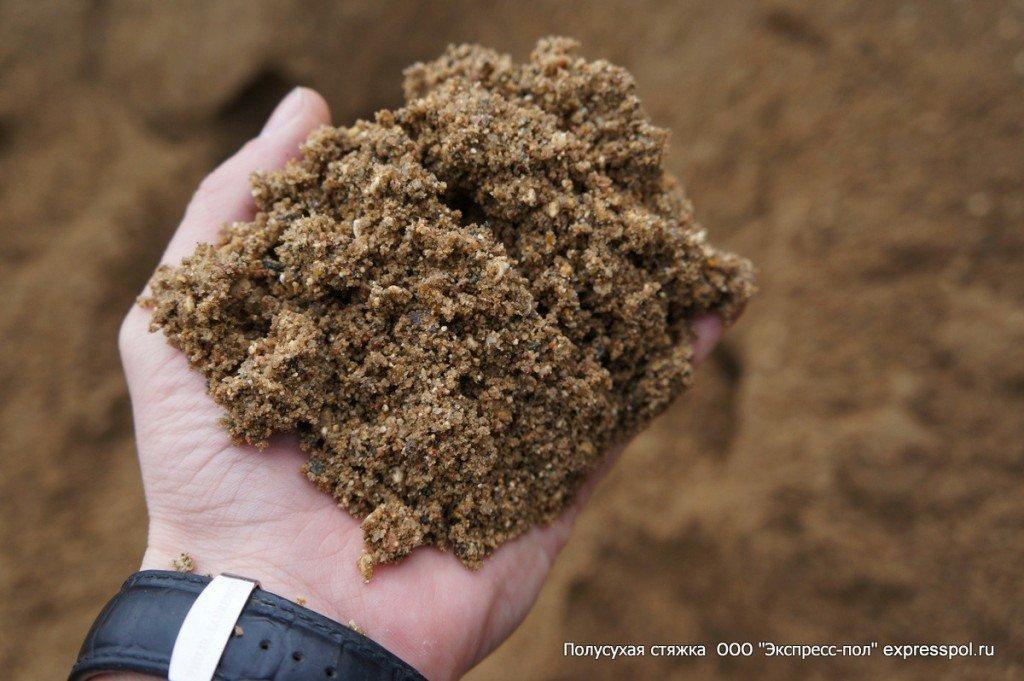 Стяжка пола песок карьерный, мытый