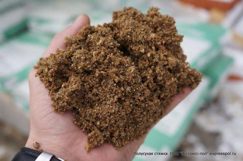 Песок для стяжки по полусухой технологии