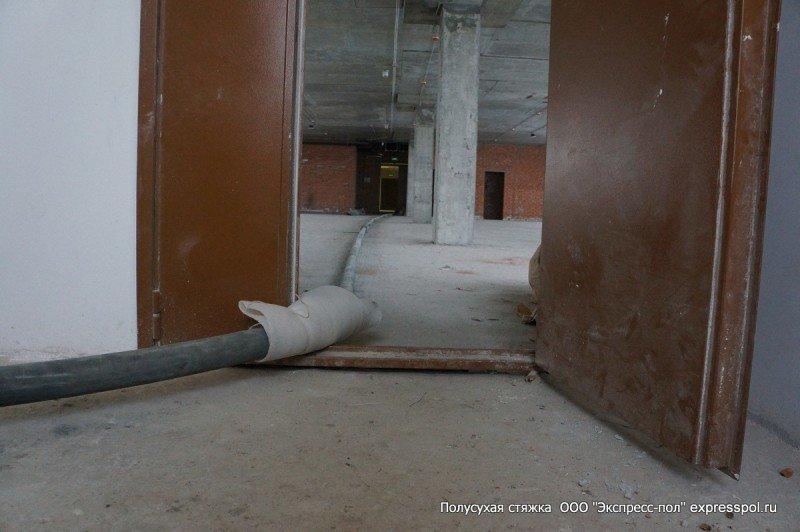 офисные помещения, ремонт и отделка. Стяжка бетонного пола