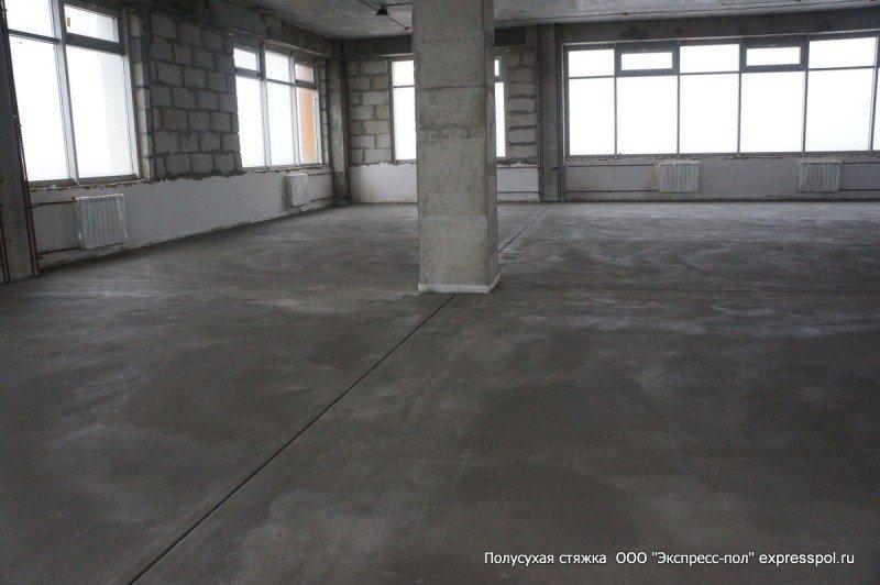 офис стяжка, стяжка бетонного пола