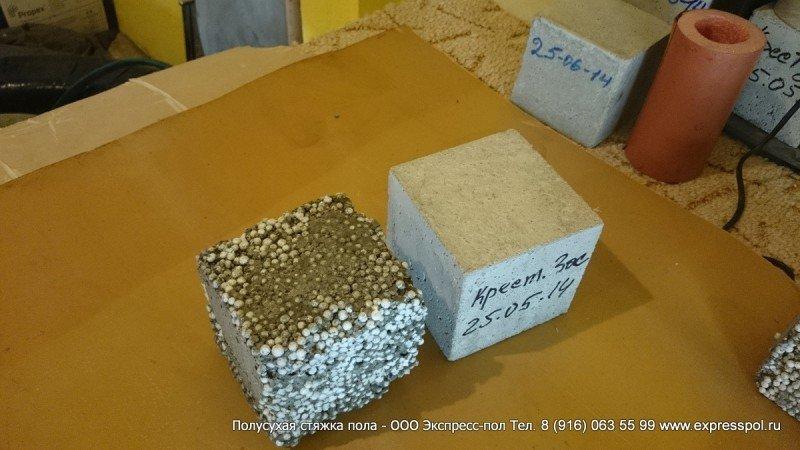 Вес полистиролбетона и цементной стяжки