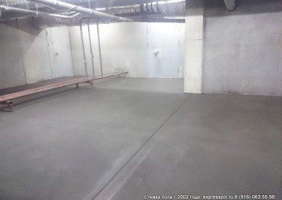 Дом культуры. Выполнение стяжки в подвальном помещении
