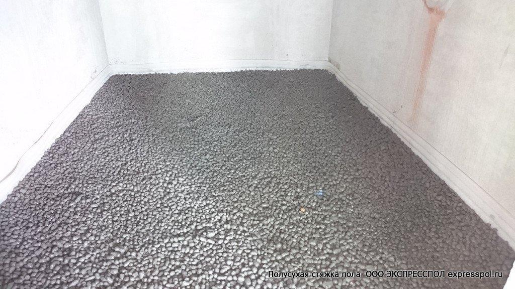 керамзит пролитый цементом