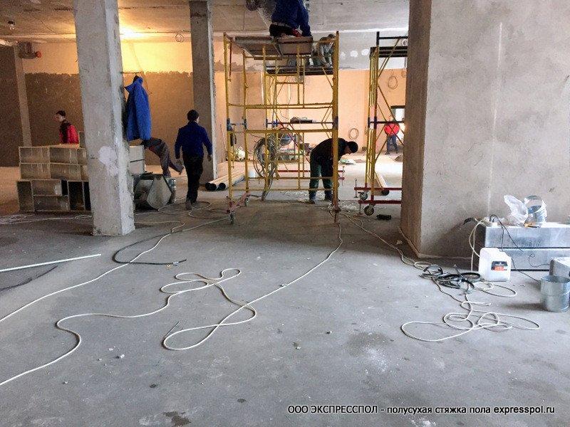 Маресьево МФЦ строительство, устройство стяжки