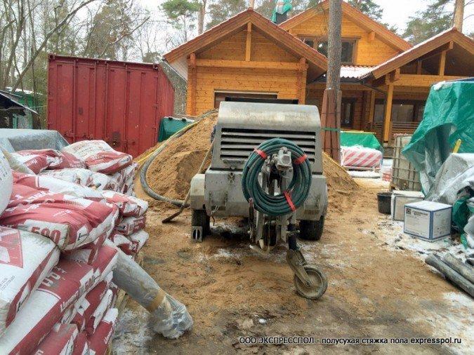 Устройство стяжки в деревянном доме - застройщик HONKA