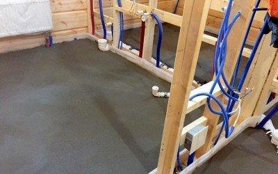 Устройство стяжки в деревянном доме — застройщик HONKA