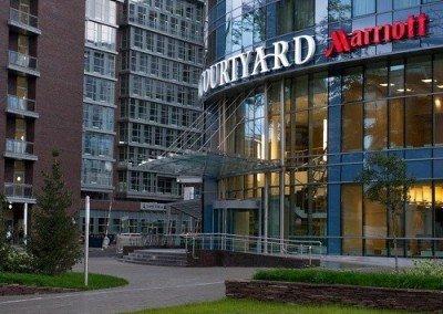 Стяжка пола в гостинице Marriott Бизнес-центр Vivaldi Plaza
