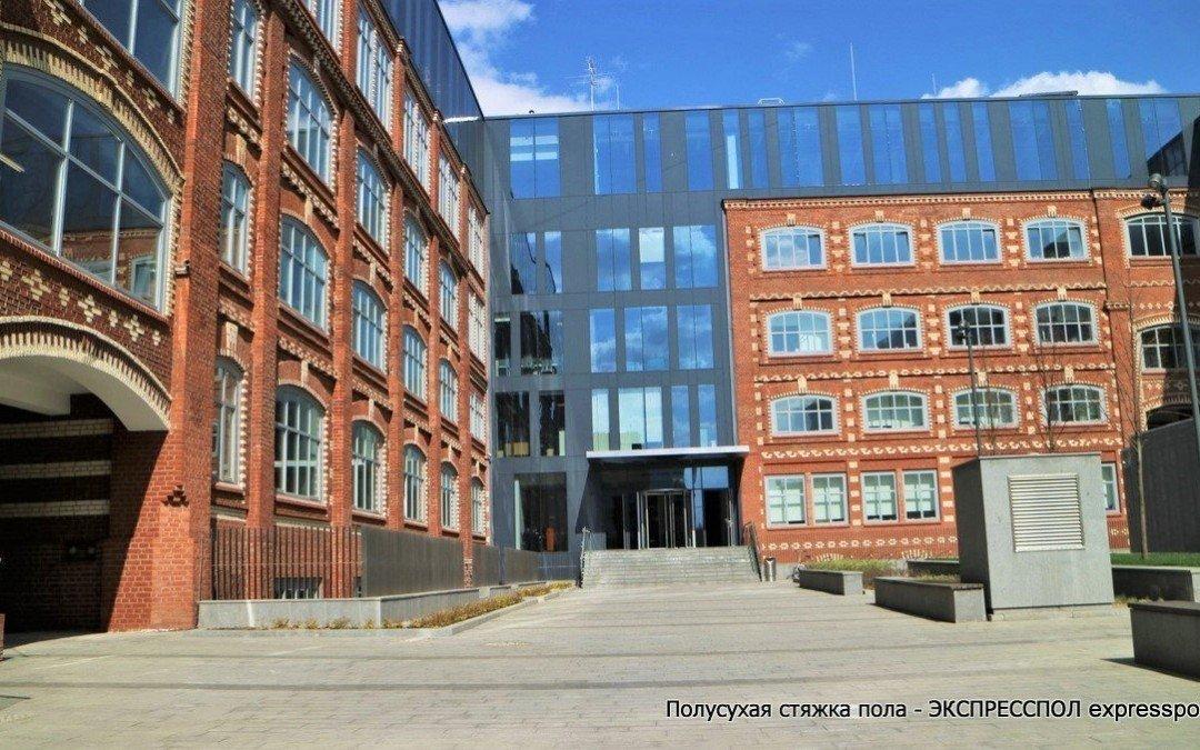 Офисные помещение, устройство полов в офисном комплексе «Большевик»
