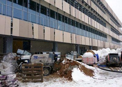 Сколтех в Сколково лаборотория строительтсво