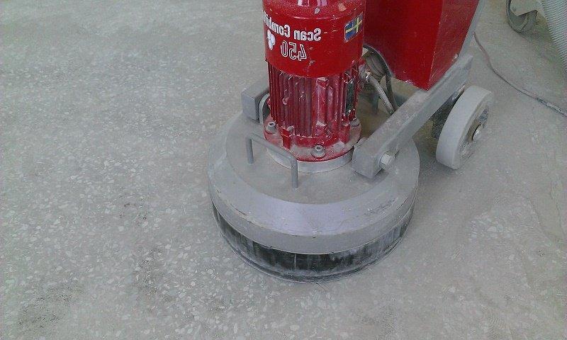 Полированная бетонная стяжка с пропиткой для бетона.