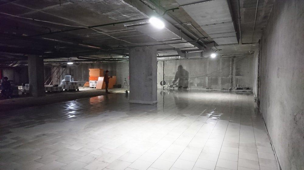 Подземный Паркинг укладка плитки
