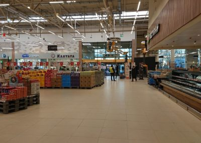 Виброукладка в гипермаркете Глобус