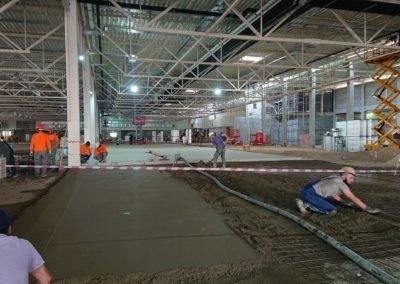 Строительство, виброукладка в гипермаркет Глобус Медведково